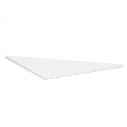 Dreieck-Verkettungsplatte 90° PREMIUM, Weiß/Silber, BxT 800x800 mm