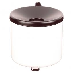 Sicherheits-Wandascher, Inhalt 3,1 Liter, ØxH 160x160 mm, Farbe weiß