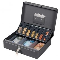 Geldkassette mit Münzzählbrett, Robuste Ausführung aus Stahlblech
