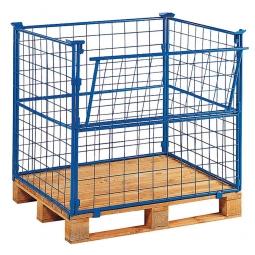 Gitter-Aufsatzrahmen 4-fach stapelbar, LxBxH 1200x800x1000 mm, mit Kommissionierklappe