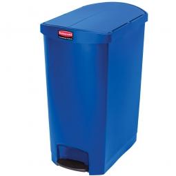 Tretabfalleimer SlimJim, 90 Liter, blau, LxBxH 638x404x814 mm, Polyethylen, Pedal an der Schmalseite