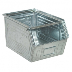 Sichtbox SB2 aus Stahlblech, 41 Liter, LxBxH 520/450 x 300 x 300 mm, feuerverzinkt