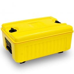 Isolier-Transportbox, -40° bis +100°C, Top-Lader, 35 Liter, gelb, BxTxH 620 x 420 x 405 mm, Polyethylen (PE-HD/EPS)