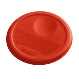 Deckel für runde Lebensmittel-Behälter Inhalt 5,7 und 7,5 Liter, rot, mit Dichtlippen