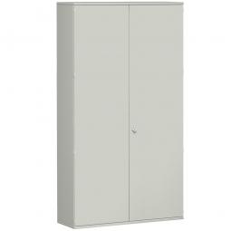 Garderobenschrank PRO, lichtgrau, BxTxH 1200x425x2304 mm, 7 Fachböden, 1 Kleiderstange