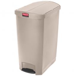Tretabfalleimer Slim Jim, 90 Liter, beige, LxBxH 638x404x814 mm