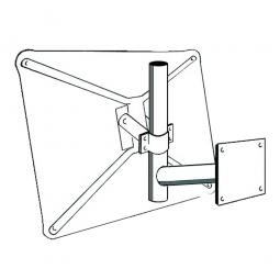 Wandarm für Verkehrsspiegel, HxT 400x500 mm, Montage an senkrechten Flächen