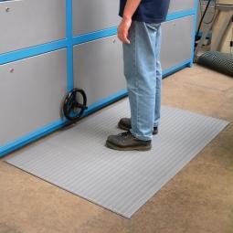 Bodenmatte, mit Rillenoberfläche, grau, LxB 600x900 mm, Stärke 9 mm, Vinyl-Schaum-Belag