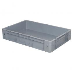 Schwerlast-Eurobehälter, geschlossen, PP, LxBxH 600x400x120 mm, 20 Liter, 2 Griffleisten, grau