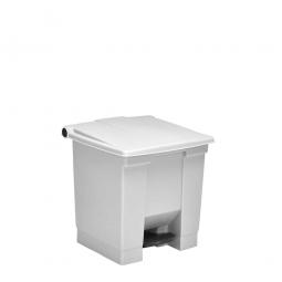 Tret-Abfallbehälter, 30 Liter, weiß, BxTxH 415 x 400 x 435 mm