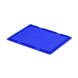 Auflagedeckel für Euro-Stapelbehälter, LxB 400 x 300 mm, Farbe blau