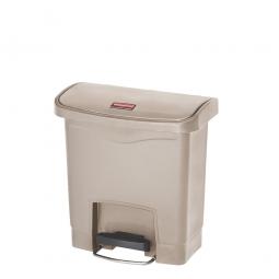 Tretabfalleimer Slim Jim, 15 Liter, LxBxH 380 x 230 x 400 mm, beige