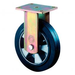 Schwerlast-Bockrolle, Rad-ØxB 125x50 mm, Tragkraft 200 kg, schwarz