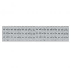 System-Schlitzplatte BxHxT 2000x450x18 mm, Aus 1,25 mm Stahlblech, kunststoffbeschichtet in lichtgrau
