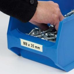 Beschriftungs-Etiketten f. Sichtbox PROFI LB3+LB3T, weiß, LxB 71,5x20 mm, VE=100 Stück