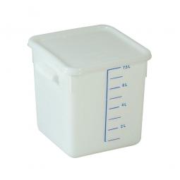 Platzsparbehälter, viereckig, LxBxH 220 x 210 x 220 mm, 7,5 Liter, weiß