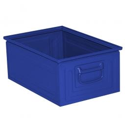 Stapelkasten ST3 aus Stahlblech, 25 Liter, LxBxH 450 x 300 x 200 mm, blau