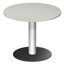 Rundtisch, Tischplatte lichtgrau ØxH 900 x 720 mm