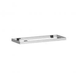 Metallsockel PRO, alusilber, BxH 1000x50 mm, mit Bodenausgleichsfüßen