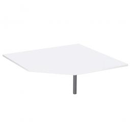 Fünfeck-Verkettungsplatte 90° PREMIUM, Weiß/Silber, BxT 1225x1225 mm