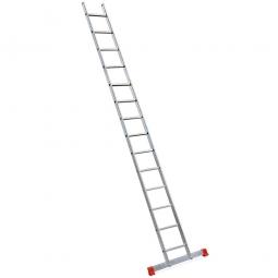 Aluminium-Anlegeleiter mit 14 Sprossen, Leiterlänge 3727 mm, Gewicht 5,6 kg