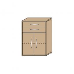 Schrank mit Schubladen, 3 OH, Wildeiche, HxBxT 1120x800x420 mm