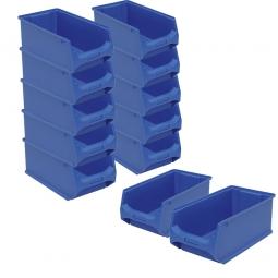 10x Sichtbox LB 3, Farbe blau + GRATIS: 2 zusätzliche Sichtboxen geschenkt!