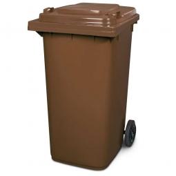 Müllbehälter, 240 Liter, braun, BxTxH 580 x 730 x 1075 mm, Polyethylen (PE-HD)