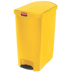 Tretabfalleimer Slim Jim, 90 Liter, gelb, LxBxH 638 x 404 x 814 mm