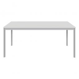 """Schreibtisch """"Classic"""", BxTxH 1800x800x720 mm, Gestell lichtgrau, Dekor lichtgrau"""
