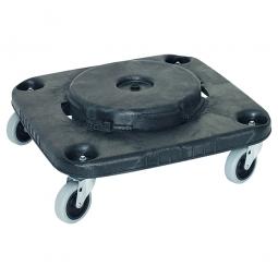 Fahrgestell für eckige Mehrzweckbehälter, 106-151 Liter, H 170 mm, Tragkraft 135 kg, schwarz