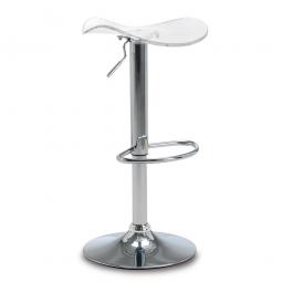 Bar- und Tresenhocker, Sitzhöhe 640 - 840 mm, Farbe transparent, belastbar bis 110 kg, Sitz um 360° drehbar