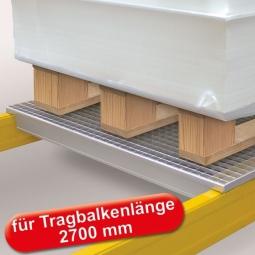 Gitterrost-Böden, feuerverzinkt, LxTxH 2640x1100x20 mm, 3-geteilt, Maschenweite 33x66 mm