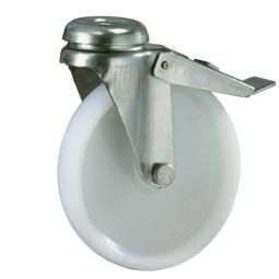 Apparate-Lenkrolle mit Feststellbremse, Rad-ØxB 120 x 27 mm, Tragkraft 100 kg