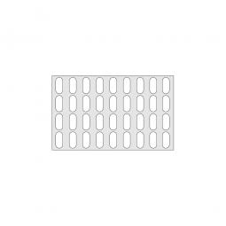 Gitterregalboden aus Kunststoff (Polystyrol), BxT 950 x 580 mm, bestehend aus 2 Bodensegmenten