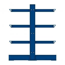 Kragarm-Anbauregal für doppelseitige Nutzung, mittelschwere Ausführung, BxTxH 1060 x 1150 x 2500 mm, Nutztiefe 2x 500 mm, Tragkraft je Fachebene 500 kg