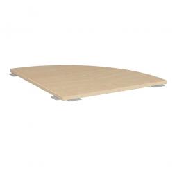 Verkettungsplatte ELEGANCE Viertelkreis 90°, Dekor Ahorn, BxT 800x800 mm