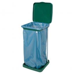 Müllsack-Halter, grün, LxBxH 360x395x730 mm, Stabile Ausführung, mit verzinkten Stangen