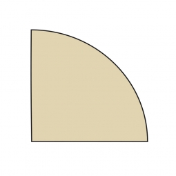 Verkettungsplatte, Viertelkreis, Ahorn, BxT 800 x 800 mm