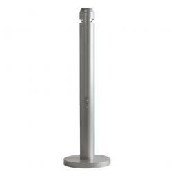 """Aluminium-Standaschenbecher """"Smokers' Pole"""", silber"""