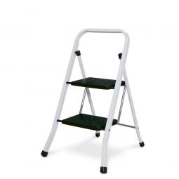 Klapptritt-Leiter aus Stahl mit 2 Stufen, Arbeitshöhe bis 2456 mm, Standhöhe 456 mm, Tragkraft bis 150 kg
