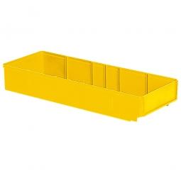 Regalkasten, gelb, LxBxH 500x186x83 mm, Polystyrol-Kunststoff (PS), Gewicht 475 g