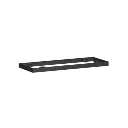 Metallsockel PRO, schwarz, BxH 1000x50 mm, mit Bodenausgleichsfüßen