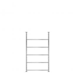 Ordnerregal mit 5 Böden, glanzverzinkt, Schraubsystem, BxTxH 1000 x 300 x 1850 mm