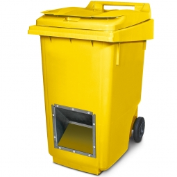 Streugutbehälter mit Entnahmeöffnung, gelb, 360 Liter, HxBxT 1100 x 600 x 875 mm