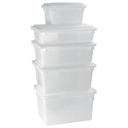 Lebensmittelbehälter, LxBxH 660 x 457 x 230 mm, 47 Liter, naturweiß