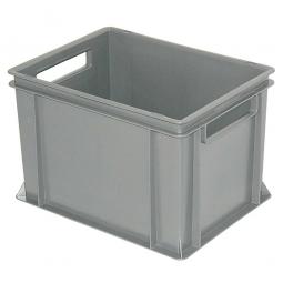 Eurobehälter mit 2 Durchfassgriffen, LxBxH 400x300x270 mm, 26 Liter, grau