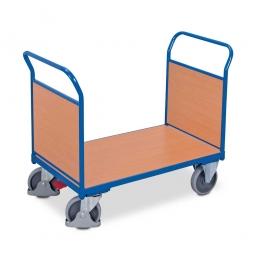Zweiwandwagen mit Holzwänden, LxBxH 1030 x 500 x 950 mm, Tragkraft 400 kg