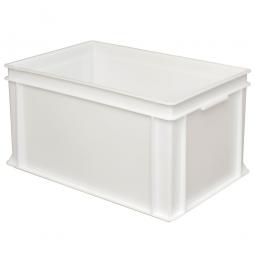 Eurobehälter mit 2 Griffleisten, LxBxH 600 x 400 x 320 mm, 63 Liter, weiß