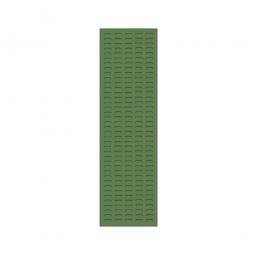 System-Schlitzplatte BxHxT 450x1500x18 mm, Aus 1,25 mm Stahlblech, kunststoffbeschichtet in resedagrün
